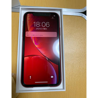 アイフォーン(iPhone)の 新品 iPhoneXR 128G レッド(スマートフォン本体)