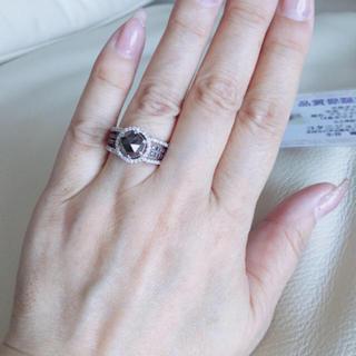 豪華ブラックダイヤリング💖約合計3カラット お値下げ(リング(指輪))