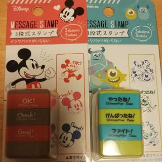 ディズニー(Disney)の【ディズニー】スタンプセット⭐️(印鑑/スタンプ/朱肉)