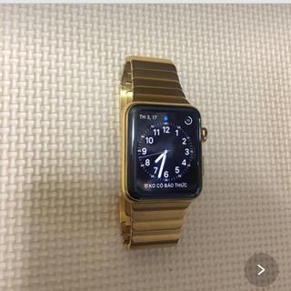 アップルウォッチ(Apple Watch)のapplewatch 金をメッキした(腕時計(デジタル))