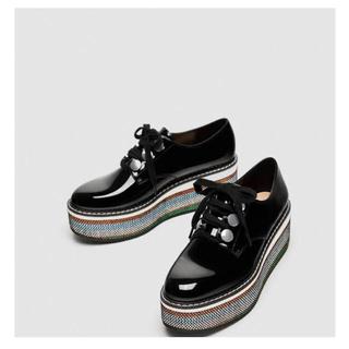 ザラ(ZARA)のZARA 厚底オックスフォードシューズ(ローファー/革靴)