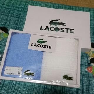 ラコステ(LACOSTE)のタオルハンカチ2枚組 ラコステ(ハンカチ/ポケットチーフ)