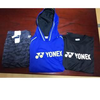 ヨネックス(YONEX)のヨネックス Tシャツ ゲームシャツ、スウェットパーカーset販売 XO(ウェア)