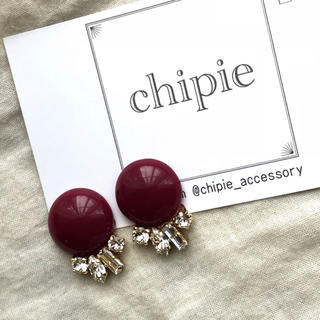 ザラ(ZARA)の再∞販 raspberry cabochon × bijou pierce(ピアス)