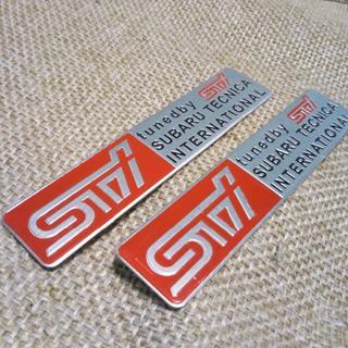 SUBARU スバル STI エンブレム ステッカー 2個セット