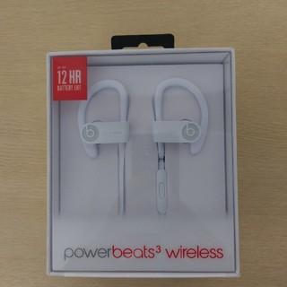 ビーツバイドクタードレ(Beats by Dr Dre)の【新品未開封】Powerbeats3 Wirelessイヤホン-ホワイト(ヘッドフォン/イヤフォン)