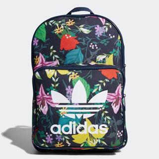 アディダス(adidas)のネイビー/花柄    リュック  アディダスオリジナルス(リュック/バックパック)