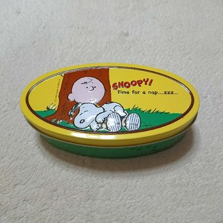 スヌーピー 空き缶 クッキーティン チャーリー・ブラウン(キャラクターグッズ)