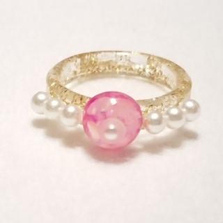 リング指輪*ピンク*ハンドメイド(リング)