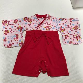 袴 ロンパース 女の子 70サイズ(和服/着物)