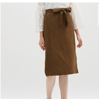 GU - ウエストリボンタイトスカート
