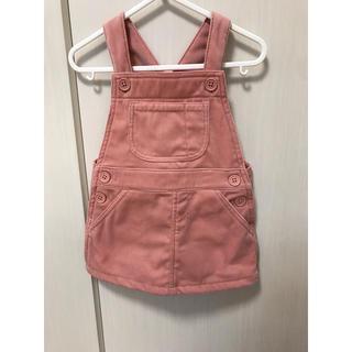 MUJI (無印良品) - サロペット スカート ピンク♡