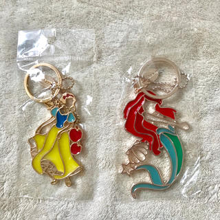 Disney - ステンドグラス風キーホルダー 白雪姫 アリエル