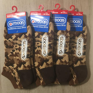 アウトドアプロダクツ(OUTDOOR PRODUCTS)のoutdoor  靴下  新品タグ付き  25〜27cm  4足セット(ソックス)