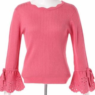 リランドチュール(Rirandture)のリランドチュール ❤︎ 袖口フレア刺繍リブニット(ニット/セーター)
