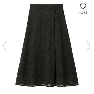 ジーユー(GU)の♡新品 GU レーススカート♡(ひざ丈スカート)