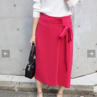 イエナ(IENA)の【よし様専用】イエナ カラーラップスカート  ピンク(ひざ丈スカート)