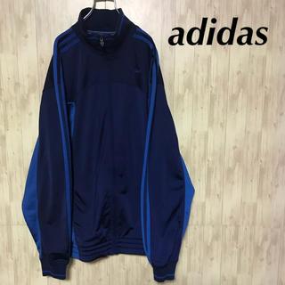 アディダス(adidas)の美品 adidas トラックジャケット 大きいサイズ 刺繍ロゴ(ジャージ)