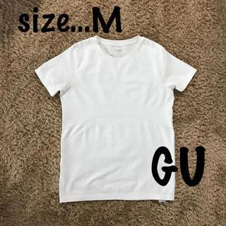ジーユー(GU)のTシャツ スポーツ ウェアー Mサイズ GU 白 ジーユー レディース(Tシャツ(半袖/袖なし))
