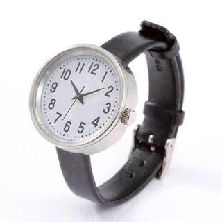 ムジルシリョウヒン(MUJI (無印良品))の【新品】MUJI WRIST WATCH 腕時計・公園の時計・小 バンド:黒革(腕時計)