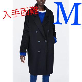 ザラ(ZARA)の*人気完売商品*ZARA ダブルブレストコート ブラック(ロングコート)
