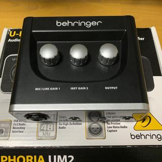 ベリンガー U-PHORIA UM2 オーディオインターフェース(オーディオインターフェイス)