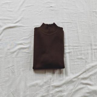 エディットフォールル(EDIT.FOR LULU)のVintage ブラウン 半袖リブニット(カットソー(半袖/袖なし))