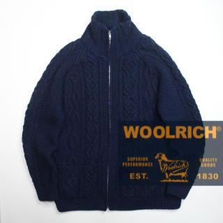 ウールリッチ(WOOLRICH)のWOOL RICH ウールリッチ ニットジャケット タートルネック フルジッパー(ブルゾン)