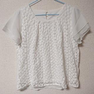 シマムラ(しまむら)のフラワー刺繍のシフォンブラウス(シャツ/ブラウス(半袖/袖なし))