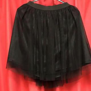 ジーユー(GU)のチュールレーススカート 黒(ミニスカート)