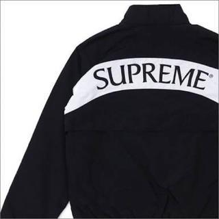 シュプリーム(Supreme)のsupreme  arc track jacket 黒 L(ナイロンジャケット)