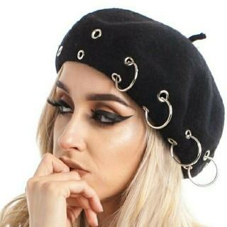 リングベレー帽 ブラック(ハンチング/ベレー帽)