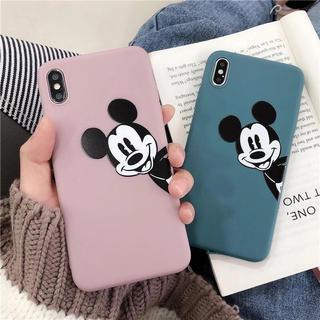 ディズニー(Disney)の高品質‼️シンプルミッキー iPhoneケース(ピンク×ブルー)(iPhoneケース)