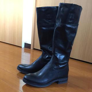 ナノユニバース(nano・universe)の新品 ナノユニバース 黒ジョッキーブーツ23センチ(ブーツ)
