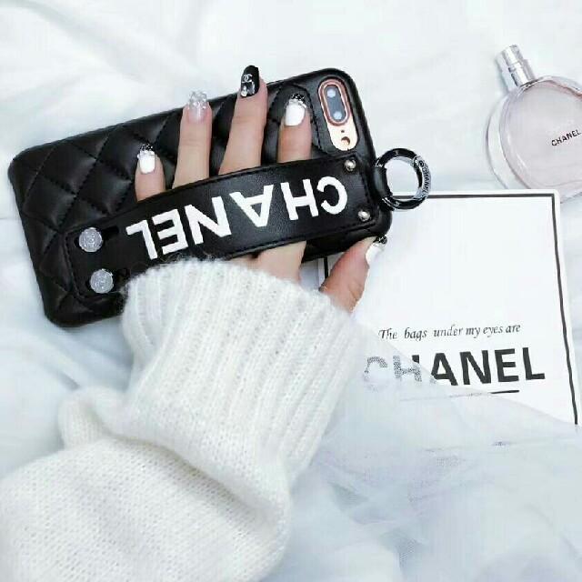 burch iphone7plus カバー | CHANEL - 人気新品 iPhone 8 ケース  ブラック の通販 by kiseono's shop|シャネルならラクマ
