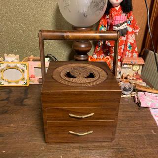 アンティーク木製灰皿(小物入れ)