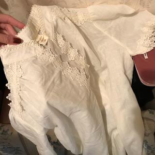 最終価格☁️france vintage blouse.(シャツ/ブラウス(半袖/袖なし))