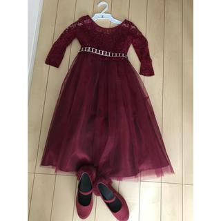キャサリンコテージ(Catherine Cottage)のキャサリンコテージ ドレス 130 GU バレエシューズ 21センチ(ドレス/フォーマル)