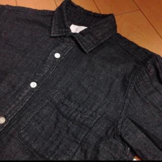 アーバンリサーチ(URBAN RESEARCH)のアーバンリサーチブラックコットンシャツ(シャツ)