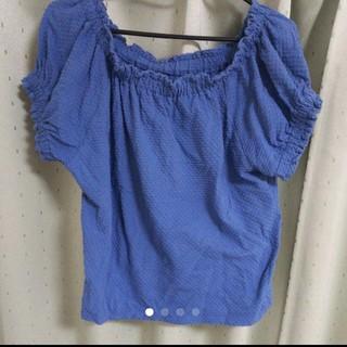 ジーユー(GU)のドットジャカードオフショルダーT(Tシャツ(半袖/袖なし))