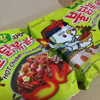 ブルタックポックンミョン!ブルタックジャジャ麺!2袋セット‼(インスタント食品)