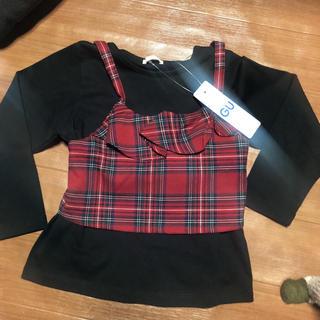 ジーユー(GU)のGU 長袖シャツ 110 キャミ重ね着(Tシャツ/カットソー)