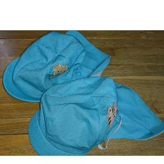 2枚組 園児 カラー帽子 水色(帽子)