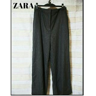 ザラ(ZARA)の新品未使用 ZARA ワイド パンツ グレー ストライプ M (その他)