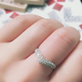 プラチナ 指輪 天然ダイヤ ハートリング (リング(指輪))