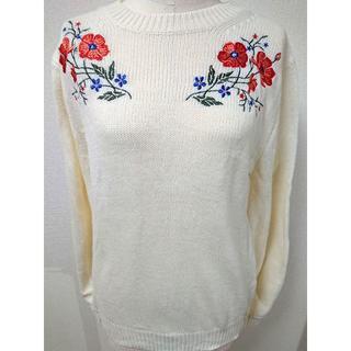 カリタ(CARITA)の【Khalita/カリタ】花柄刺繍ニットセーター(ニット/セーター)