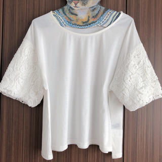 シマムラ(しまむら)の袖のレースがかわいいトップス(Tシャツ(半袖/袖なし))