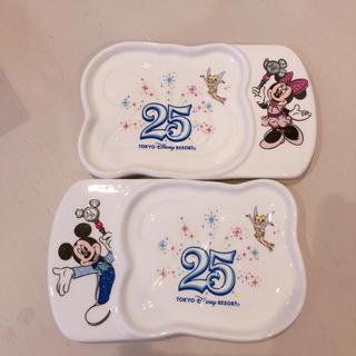 Disney - ディズニー 25周年 スーベニアプレート 食器 お皿 プレート 小皿 ミッキー