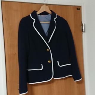 ジーユー(GU)の美品☆GUネイビージャケット☆M(テーラードジャケット)