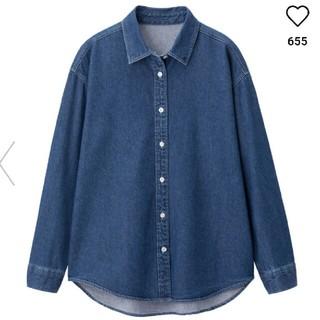 GU - GU ジーユー デニムシャツ Mサイズ